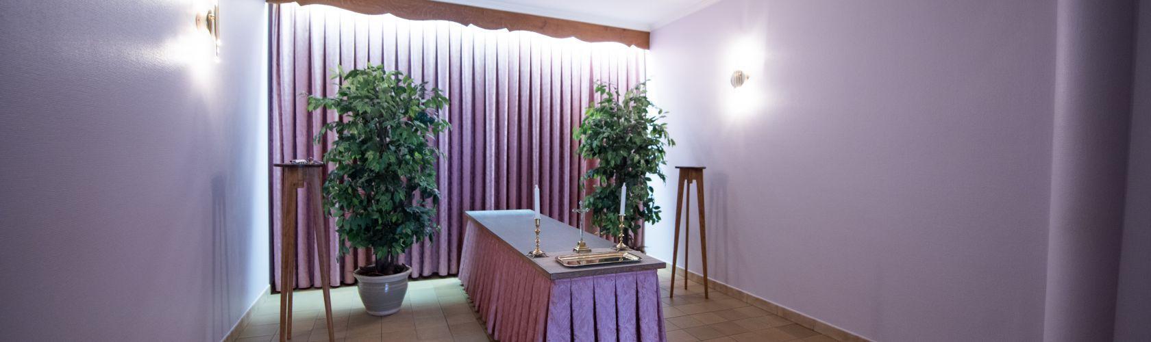 Salon funéraire du funérarium à Aubel